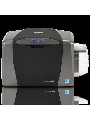 Impresora de credenciales Fargo DTC1250e con ethernet y codificador Omnikey 5127 - a una cara