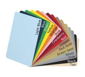 Tarjetas Plasticas de colores