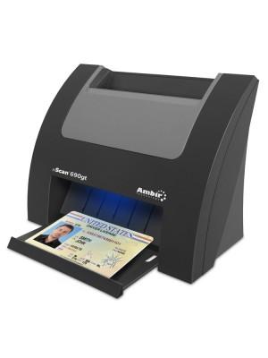 Escáner de tarjetas de identificación dúplex nScan 690gt con AmbirScan