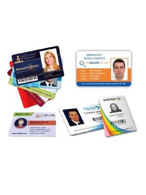 Tarjetas personalizadas en tamaño estandar / tarjeta de crédito.