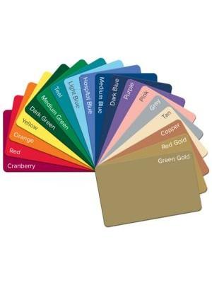 Tarjetas PVC de varios colores  CR80.55 cantidad 300